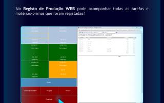Acompanhar as tarefas no Registo de Produção WEB