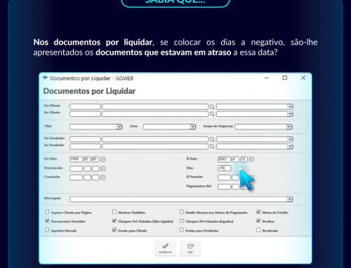Curiosidade GGWEB: Documentos por Liquidar