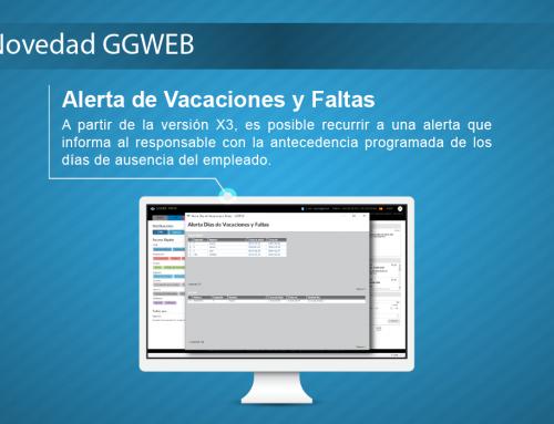 Novedad GGWEB: Alerta de Vacaciones y Faltas