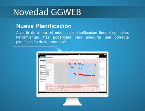 Novedad GGWEB: Nueva Planificación