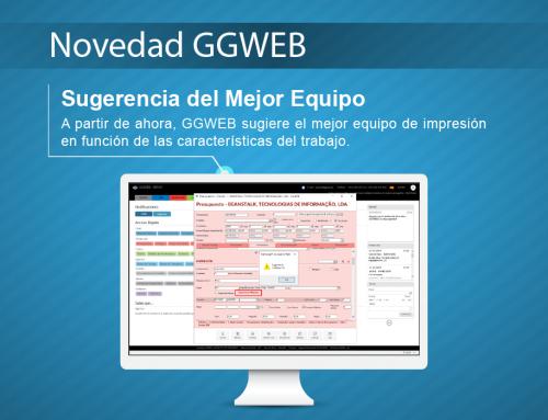 Novedad GGWEB: Sugerencia de Máquina