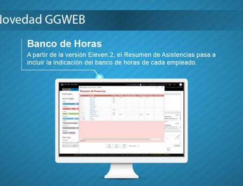 Novedad GGWEB: Banco de Horas