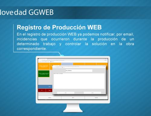 Novedad GGWEB: Registro de Producción WEB