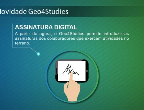 Novidade Geo4Studies: Assinatura Digital
