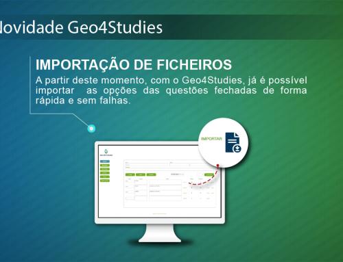 Novidade Geo4Studies: Importação de Ficheiros