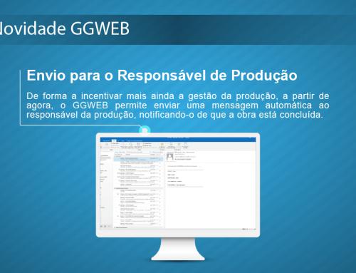 Novidade GGWEB: Envio para o Responsável de Produção