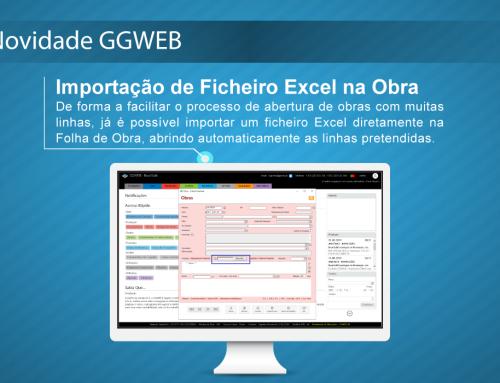 Novidade GGWEB: Importar Ficheiro Excel na Obra