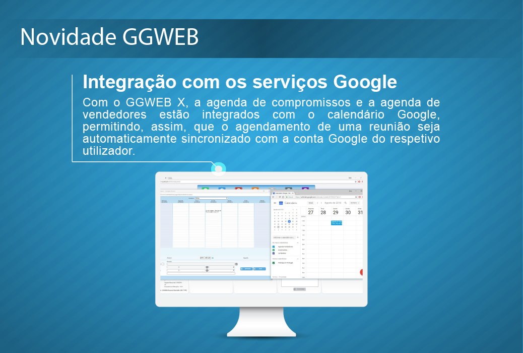 novidade GGWEB (Integração com os serviços Google)