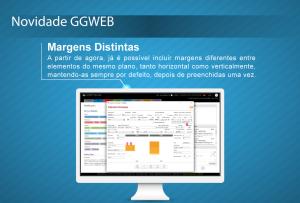 Novidade GGWEB - Margens Distintas