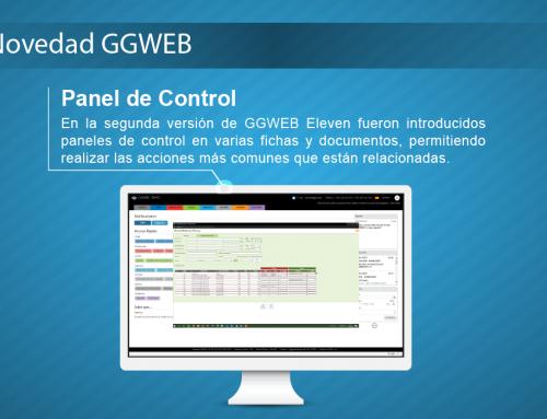 Novedad GGWEB: Panel de Control