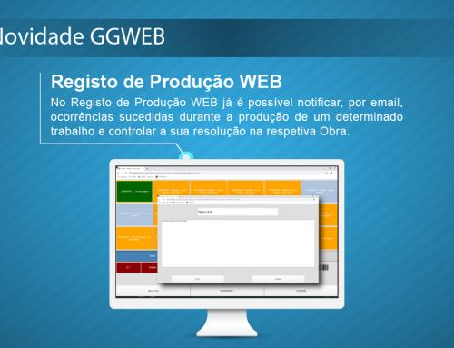 Novidade GGWEB: Notificação de ocorrências no Registo Produção WEB