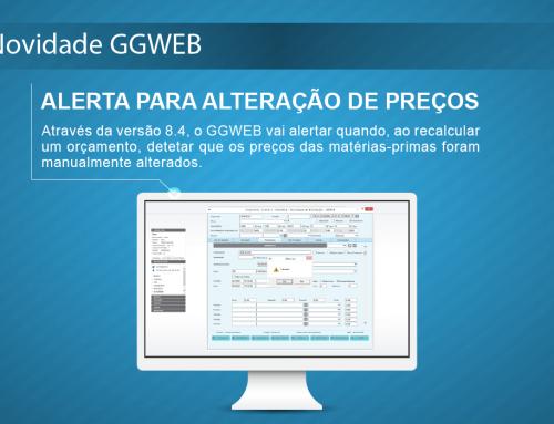 Novidade GGWEB: Alerta para alteração de preços