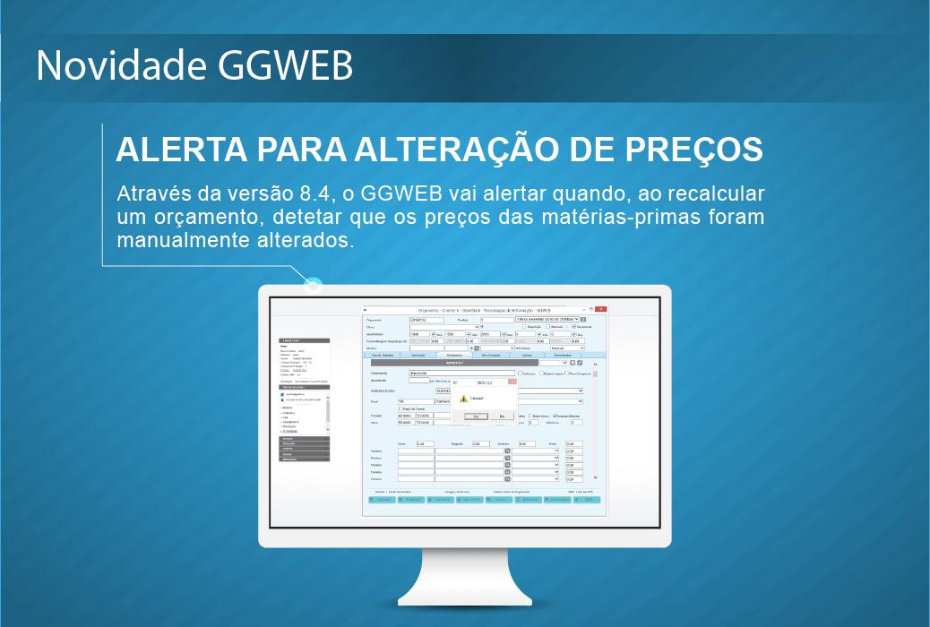 novidade GGWEB (alerta para alteracao precos)