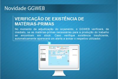 novidade GGWEB (verificacao existencia materias-primas) DESTAQUE