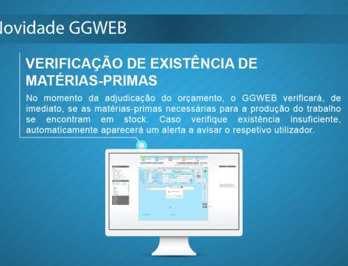 Novidade GGWEB: Verificação de existência de matérias-primas