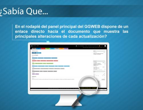 Sabía Que … GGWEB. Consultar Alteraciones en la Versión de GGWEB