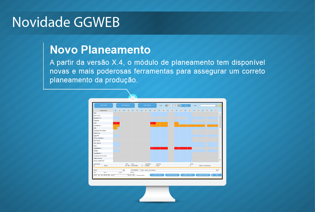 Novidade GGWEB X.4: Novo Planeamento