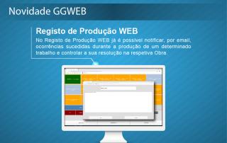Novidade GGWEB - Registo de Produção web