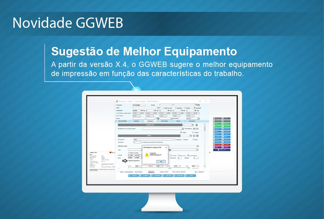 Novidade GGWEB Sugestão de Melhor Equipamento